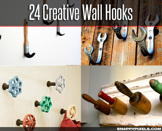 24 Creative DIY Wall Hooks for Hanging in Style