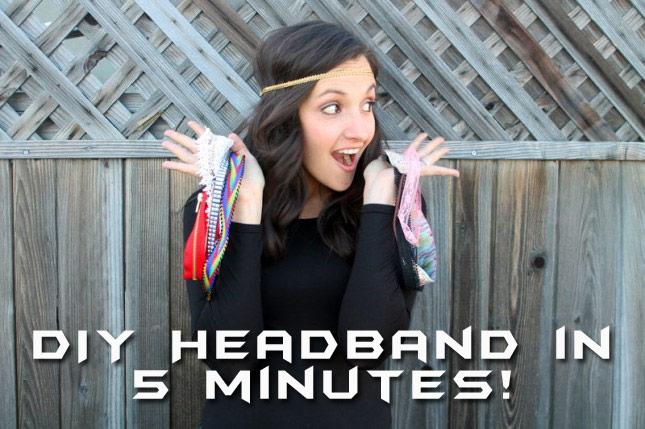 Extremely Simple DIY Headband Tutorial
