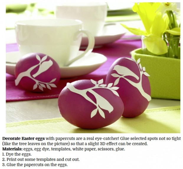Decorate Easter Eggs with Paper