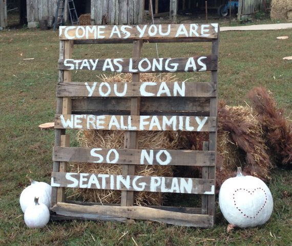 Rustic Wedding Sign made from a Reclaimed Repurposed Wooden Pallet