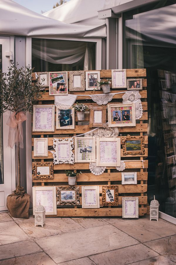 pallet used at wedding