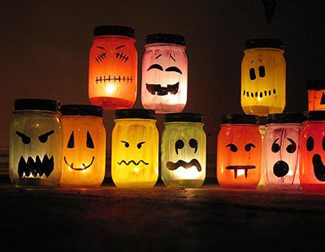 mason jar halloween Luminaries