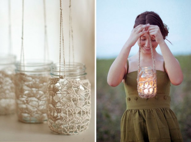 mason jar hanging lights craft idea