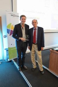 Jean- Pierre BERNHEIM, Président d'Angers Technopole avec le Technopolitain 2013, Simon Gérard, Dirigeant de citypanel.fr et We Forge.