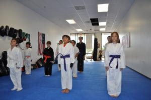 kids in karate class