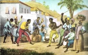 slaves doing capoeira