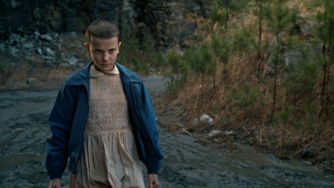 Millie Bobby Brown as Eleven Source: Netflix