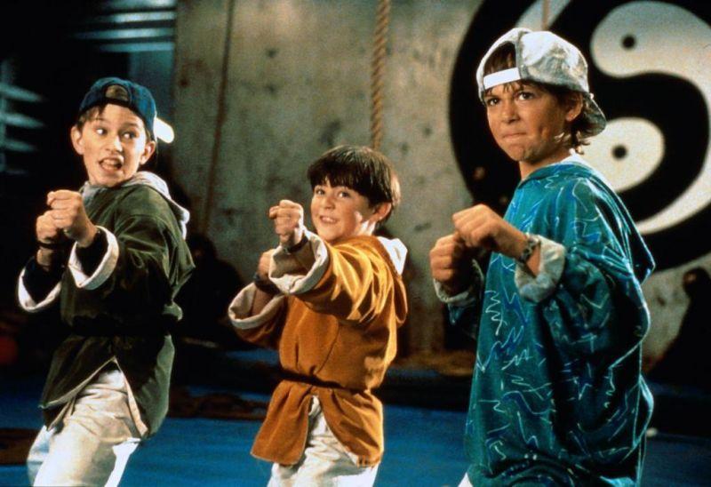 A scene from 1992's 3 Ninjas
