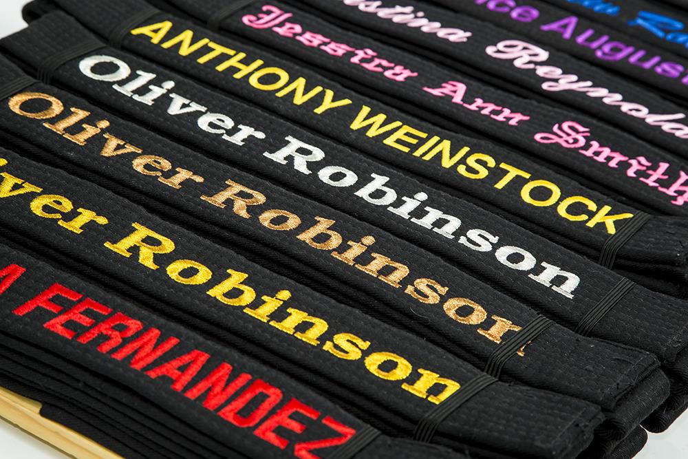 custom belt embroidery