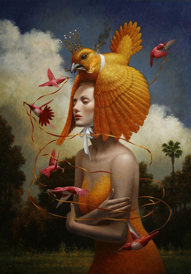 """Oil painting by Steven Kenny. """"The Ribbons"""" [Oil on canvas, 40"""" x 27""""]"""