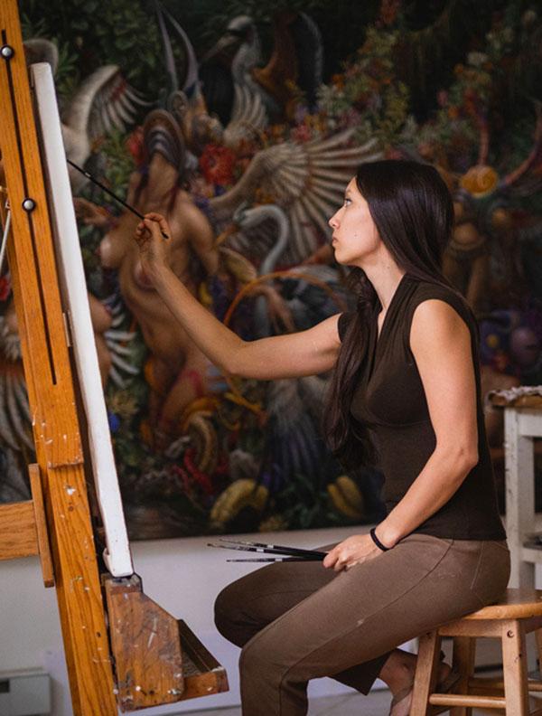 Artist Hannah Yata - Traditional Art judge - 2020 Beautiful Bizarre Art Prize