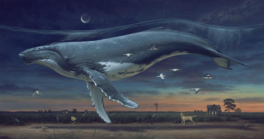Phillip-A-Singer-painting-whale-farm- surreal art surrealism