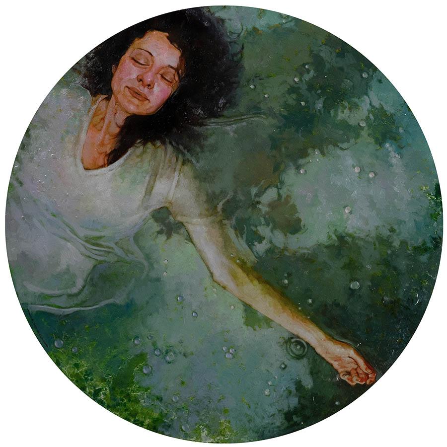Joseph Lorusso swimming woman painting