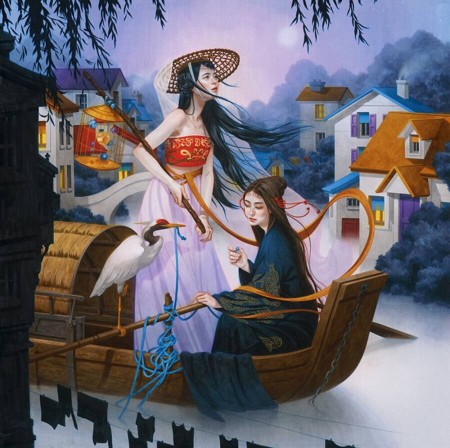 Tran Nguyen painting