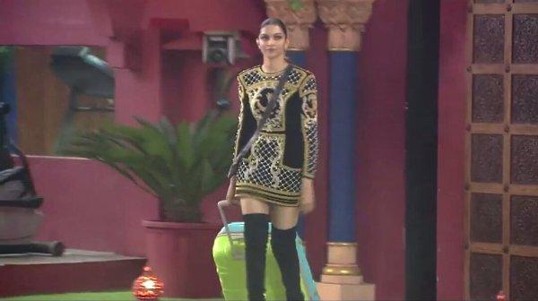 Kylie and Deepika in Balmain LBD