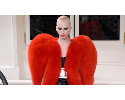 Yves Saint Laurent Heart Fur Jacket