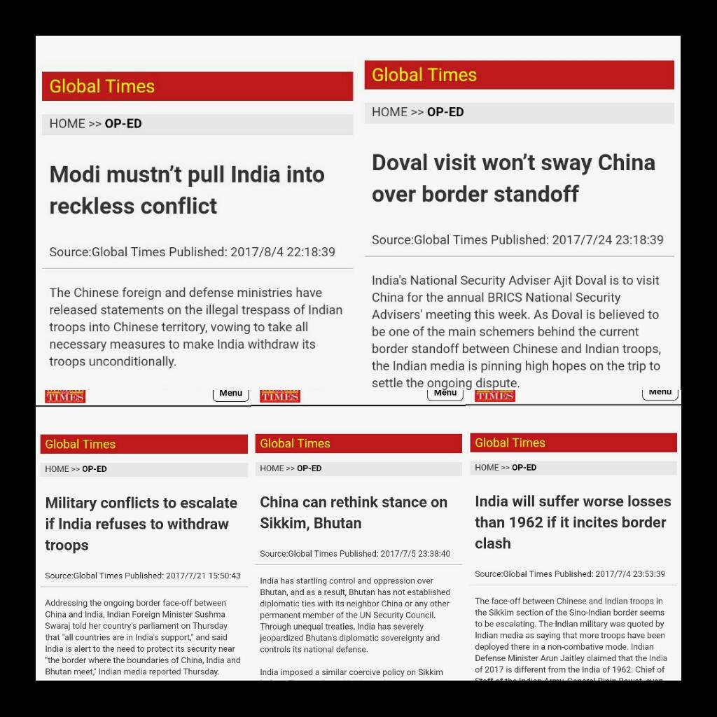 Chinese Media on India