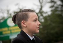 Boy cannot have a ponytail