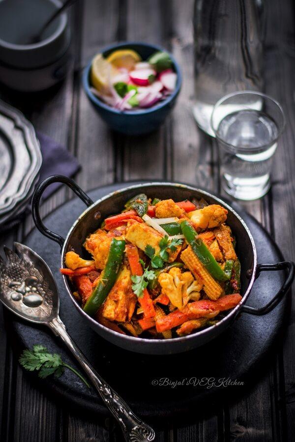 Vegetable Jalfrezi Photography