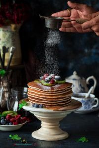 Easy Quick Vegan Cinnamon Pancakes (Eggless)
