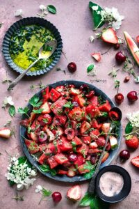 Watermelon Berry Salad