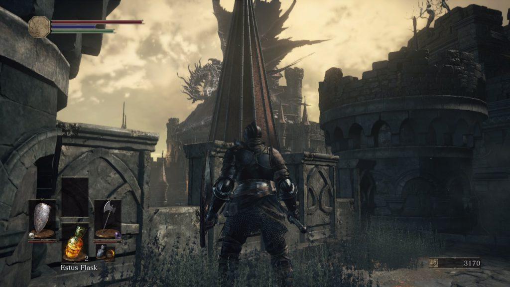 hard mode dark souls dragon on perch