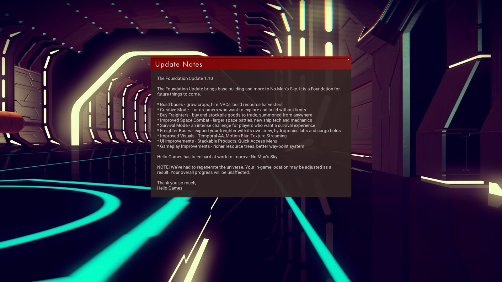 the foundation update, info, patch notes, gaming, reviews, no man's sky