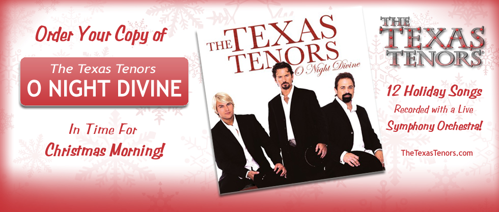 Buy The Texas Tenors Christmas Album - O Night Divine