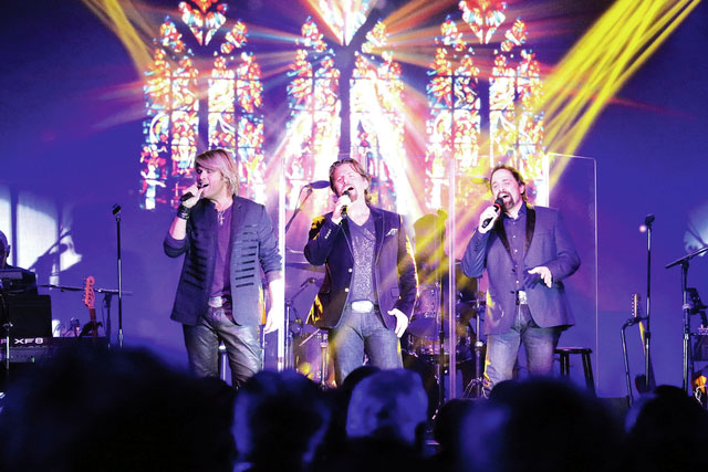 """Provided photo The Texas Tenors perform """"Amazing Grace"""" in front of a crowded audience at the Edison Foundation's 19th annual Holiday Evening on Dec. 7."""