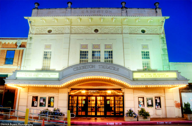 The Crighton Theatre is a truly historic theatre built in 1934 located in downtown Conroe, Texas.