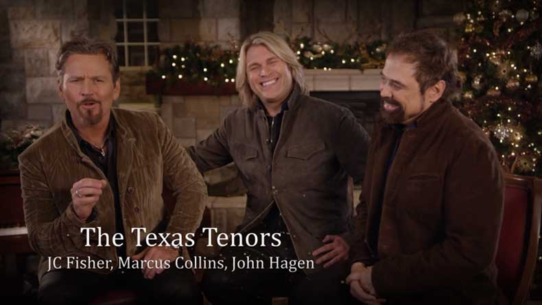 THE TEXAS TENORS HOST BRANSON CHRISTMAS MUSIC SHOW SPECIAL ON THANKSGIVING WEEKEND
