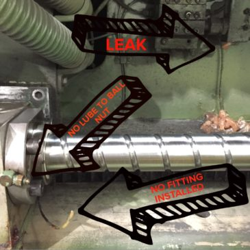 Ball Screw Lubrication for CNC Lasers is a MUST!