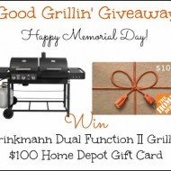 Good Grillin' Giveaway & $100 Home Depot GC