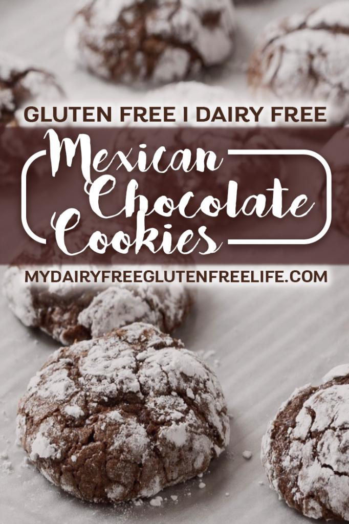 Mexican Chocolate Cookies Recipe, Gluten-Free & Dairy-Free   Gluten Free Chocolate Cookies   Easy Cookie Recipe   Dairy Free Gluten Free Dessert   Easy Holiday Cookies