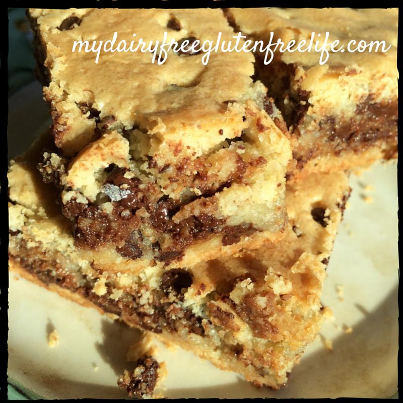 Gluten & Dairy Free Chocolate Chip Cookie Bars