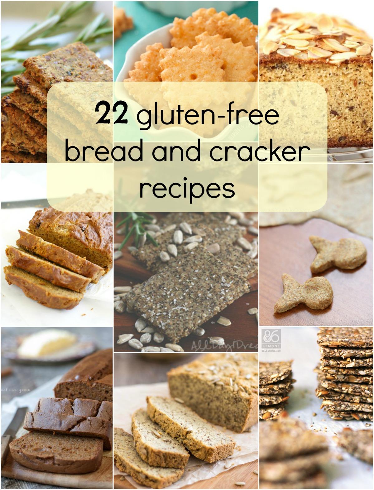 22 Gluten free Bread and Cracker Recipes