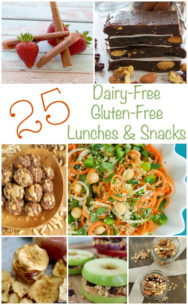25 Dairy-Free Gluten-Free Lunches and Snacks Recipes