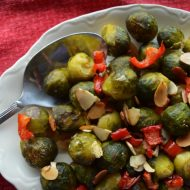 Roasted Brussel Sprouts and Red Pepper