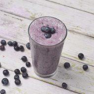 Blueberry Rhubarb Vanilla Smoothie, Dairy and Gluten Free