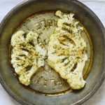 This recipe for Seasoned Cauliflower Steaks is a light and clean side dish for a main meal.