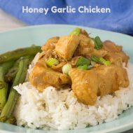 Honey Garlic Chicken using Instant Pot