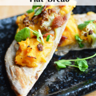 Sweet Potato Bacon Flat Bread