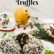 No Bake Chocolate Orange Truffles – Paleo, Vegan Glutenfree