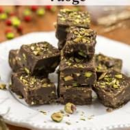 Chocolate Pistachio Fudge – Paleo, Vegan, Dairy & Gluten Free