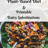 Essential Nutrients for a Plant-Based Diet, Printable Dairy Substitutions