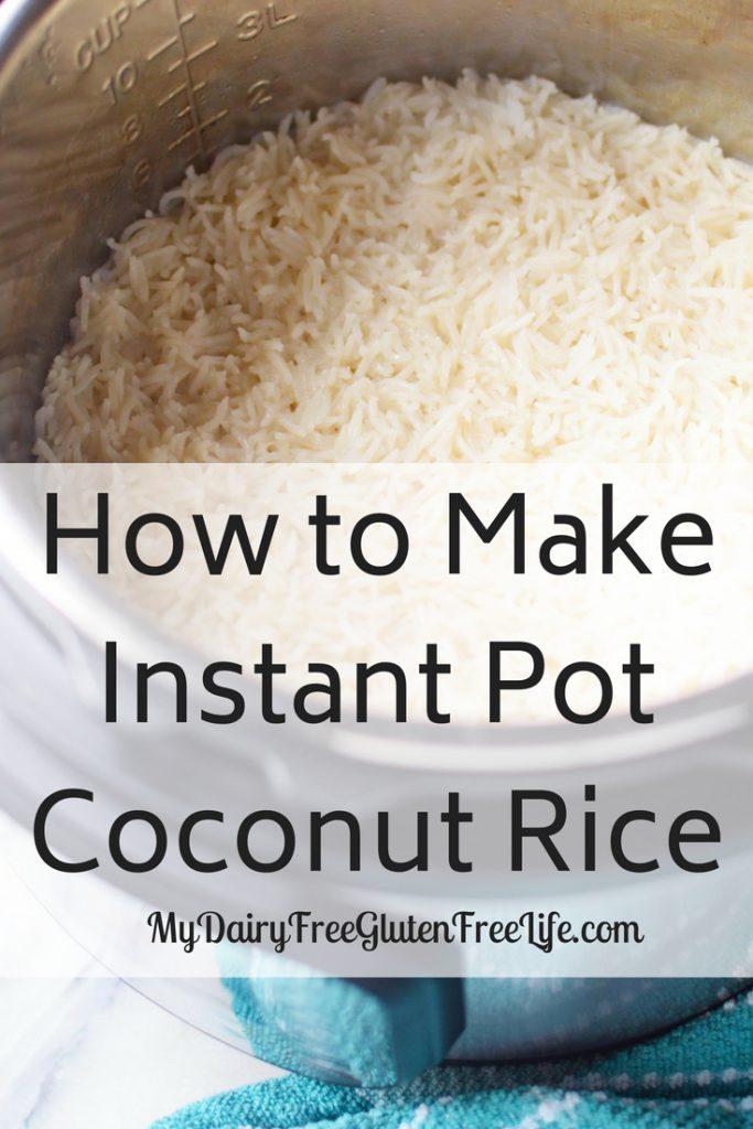Instant Pot (IP) Coconut Rice