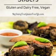 Mushroom Sliders Italian Style Gluten and Dairy Free, Vegan