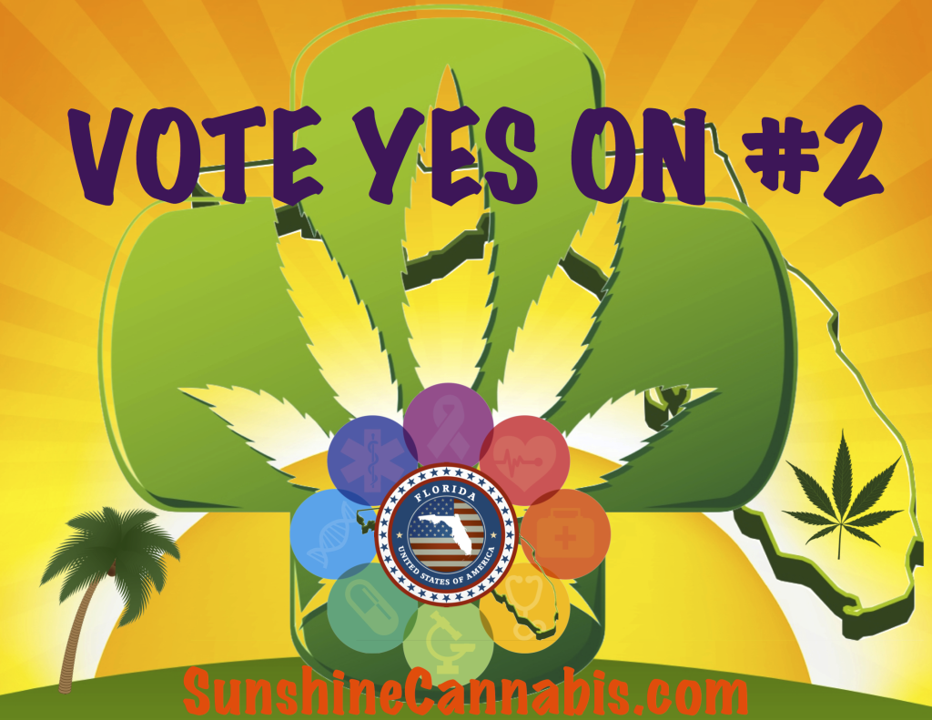 Vote YES on Amendment 2! Buy a Vote Yes on #2 T-Shirt from Sunshine Cannabis Online