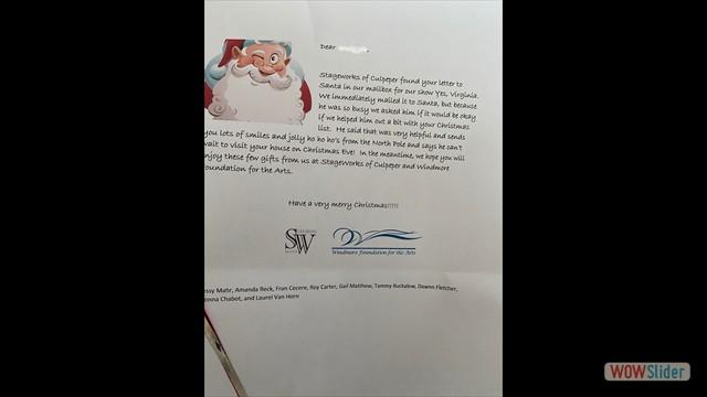 name blurred santa letter