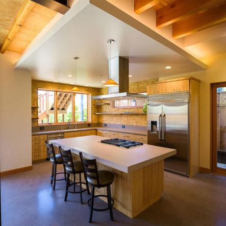woodrow modern kitchen design open range stovetop